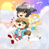 Amaya and Reicheru - Flying High by StarGamer01