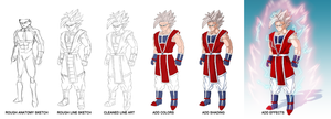 DBZ Character drawing process by domino99designs