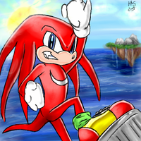 Knuckles Pwnz All by SonicRose