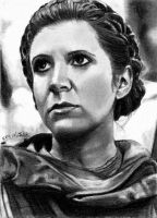 Endor Leia Sketch Card 12/15/2012 by khinson