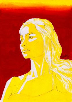 Dany in Gouache by Montaneous