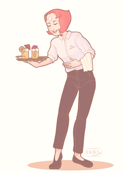 Restaurant Wars- Pearl by ChibiSo