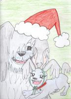 Art Trade: Santa Paws by Miss-Whoa-Back-Off