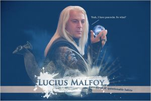 Lucius Malfoy, peacocks. by yanachka