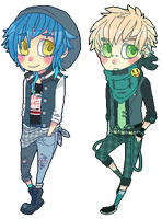 Dmmd chibi set 1 by DiniZee