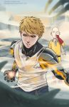 genos and saitama by brokentrain