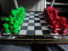 uu and UUs chessboard by ClayMage