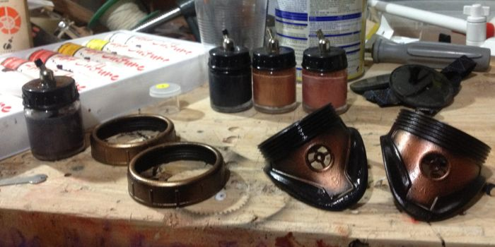 Airbrushed  Goggles by Steamjunkprops