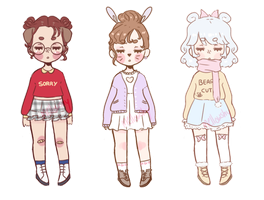 OTA puppy, bunny and bear girls~ [CLOSED] by mellowshy