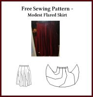 Free Sewing Pattern - Flared Skirt by StarValkyrie
