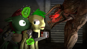 gmod - Facing the monster in the shadows by Stormbadger