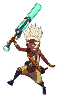 Ekko - League of Legends by Cyruth