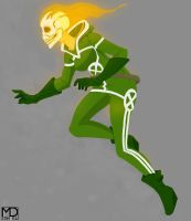 Uncanny Avengers Rogue/Ghost Rider by mikestimson2003