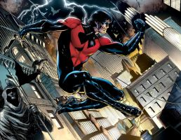 NIGHTWING 01, DOUBLE-PAGE by eddybarrows