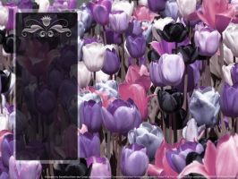 Tulip Field Black Icon Panel by SweetSoulSister