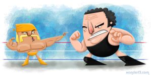 The Hulkster Vs The Giant by xanderthurteen