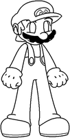 Mario Template by HeartinaThePony