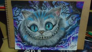 Cheshire Cat  - Colored pencil by Denis.w by Dnswill