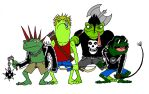 Punk Frogs by TheBestComicKing