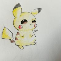 chibi pikachu by Lux-The-Umbreon
