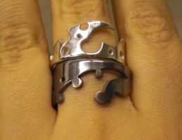 Industribal puzzle ring opened by fairyfrog
