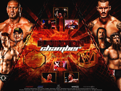 WWE Elimination Chamber 2014 Wallpaper by thetrans4med