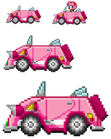 Amy SaSASR Car Sprite by LucarioShirona