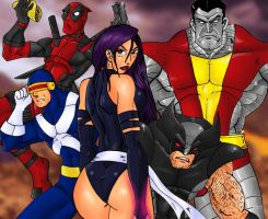 X Men Group by Mawnbak