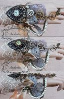 Steampunk watch cuff by Pinkabsinthe