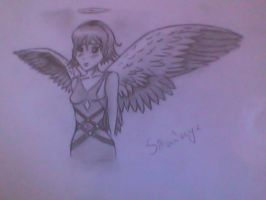 Angel girl by SainderyX