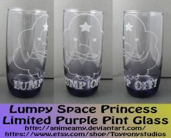 Lumpy Space Princess Limited Purple Pint Glass by AnimeAmy