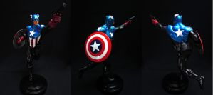 Captain America statue painted by chiseltown