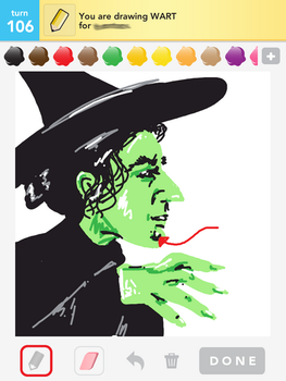 Draw Something: Wart / Wicked Witch of the West by shyfaerie