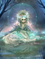Unicorn - The Queen of the forest by Kika-alf