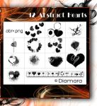 12 Abstract Hearts by Diamara