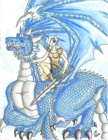 Keyary and Dragon form by DragonGirl-Lucky-13