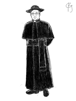 Sketch - Father Brown by AgentSAMa