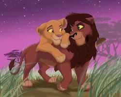 Kovu and Kiara Valentine by melted-gummy-bears
