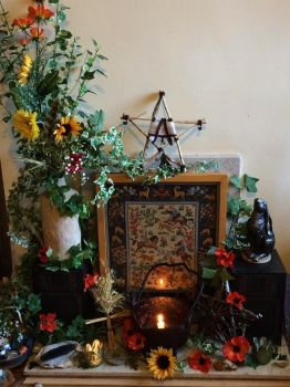 Lammas (Lughnasadh) hearth by Okarnillart