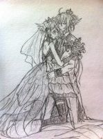 Len and Rin Kagamine: Magnet (My version) - Sketch by elrickousuke54