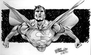 Superman's sketch by eddybarrows
