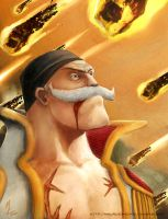 .whitebeard. by ElkhanArt