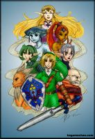 LOZ: Seven Sages Colored by I-heart-Link