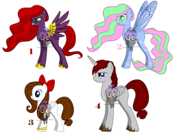 Free adoptable ponies (CLOSED!) by mzza-art
