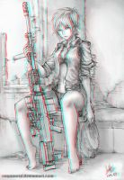 Sniper Lady 3-D conversion by MVRamsey