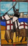 Mounted Templar Stained Glass by AutobotWonko
