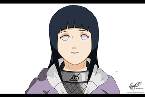 Hinata hyuuga Colored by Sarah927