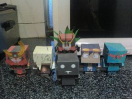Gurren Lagann Cubeecraft Collection by rubenimus21