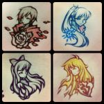 RWBY Bust Sketches by isaiahjordan