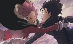 SAO Sword Art Online - Lisbeth And Kirito by Miizu-Kun